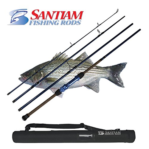 Santiam Fishind Rods Travel Rod 4 Piece 10' 12-25lb Surf Rod (10 Ft Casting Surf Rods compare prices)
