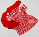 RED DOLLS SUMMER SCHOOL UNIFORM FOR DOLLS 14-18INS[35-45 CM]DOLL NOT INCLUDEDTo fit dolls such as American Girl,Hannah by Gotz,Design a Friend Doll,Kidz and Cats,Precious Day Doll,Happy Kidz and many more dolls of this height