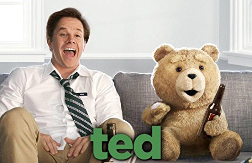 """Ted 8"""" Plush with Sound, R-Rated, 12 Phrases"""