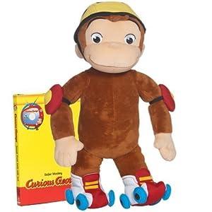 Curious George Roller Monkey Huggable Plush