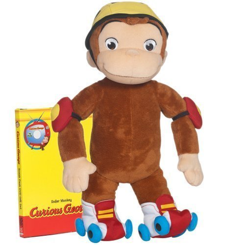 91c5d484f4 features of curious george roller monkey huggable plush relive your ...