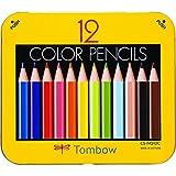 トンボ鉛筆 ミニ色鉛筆 NQ 12色 BCA-151 削り器付