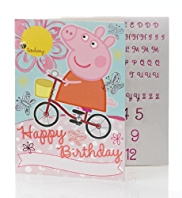 Peppa Pig Name & Age Sticker Birthday Card