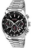 Sekonda Men's Quartz Watch with Black Dial Analogue Display and Silver Stainless Steel Bracelet 3419.27