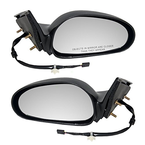 Driver and Passenger Power Side View Mirrors Textured Replacement for Ford F6ZZ 17682 BA F6ZZ 17682 AA (1996 Mustang Driver Side Mirror compare prices)