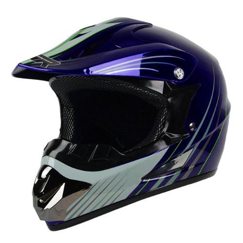 PGR X25 Youth Glory Motocross MX BMX Dirt Bike Dune Buggy Enduro ATV Quad Off Road DOT Approved Helmet