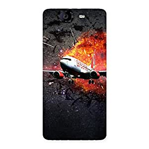 Blast Plain Back Case Cover for Canvas Knight A350