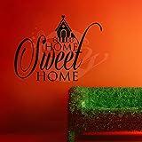 Sweet Home Wall Sticker Decal Three - B00O9V6QEA