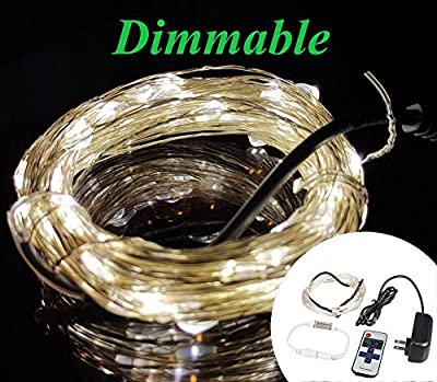 Zzmart Dimmable 12V 50ft 150 Leds String Lights -- Waterproof Flexible Copper Wire, Holiday Decorative LED Lights for Outdoor and Indoor