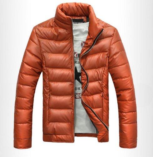 Treasure Mart  高級メンズダウンジャケット  カッコイイ オレンジ色 ホントに暖かいです