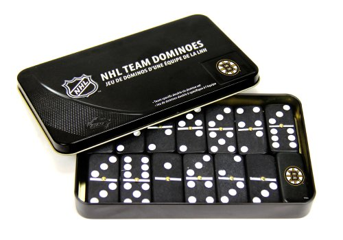 NHL Boston Bruins Domino Set in Metal Gift Tin - 1