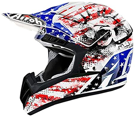 Airoh CR1PA38M Casque Off Road, Multicolore, Taille : M