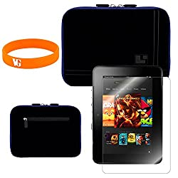 Sumaclife Black Kindle Case + Vangoddy Bracelet + Screen Protector
