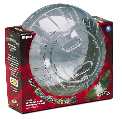 Super Pet Hamster Run-About 7-Inch Exercise Ball, Clear