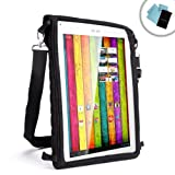 USA Gear Vertical Mobile Tablet Cover Bag & In-Car Headrest Display Case with Touch Capacitive Screen & Adjustable Travel Shoulder Sling Strap - Will fit Archos 101 , 97 Titanium / Platinum 101 / Arnova Childpad & More Tablets up to 11