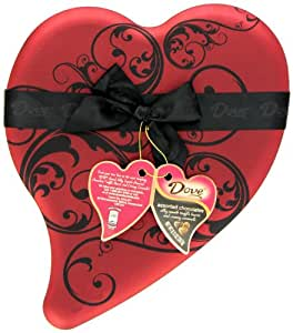 Dove Valentine's Silky Smooth Select Chocolates, 8.13-Ounce Heart Tin