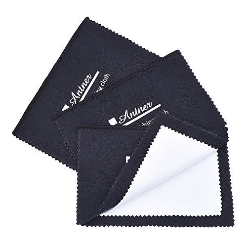 Antner 3 Pack Polishing Cloth for Silver, Gold, Brass, Watches, Cutlery and Camera Shot (Metal Polish Wipes compare prices)