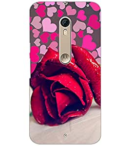 PrintDhaba RED ROSE D-6108 Back Case Cover for MOTOROLA MOTO X PURE EDITION (Multi-Coloured)