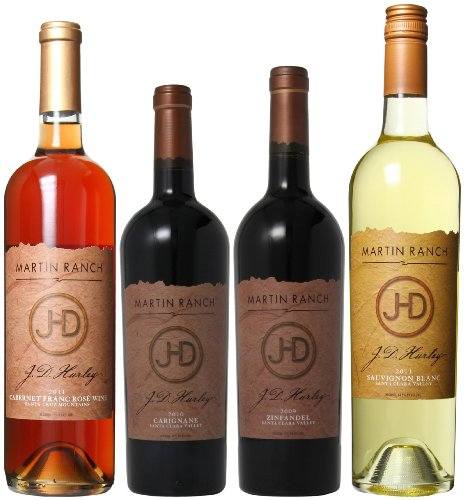Martin Ranch Winery  Red, White and Rose 4 x 750 mL