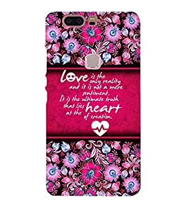 Reality Of Love 3D Hard Polycarbonate Designer Back Case Cover for Huawei Honor V8