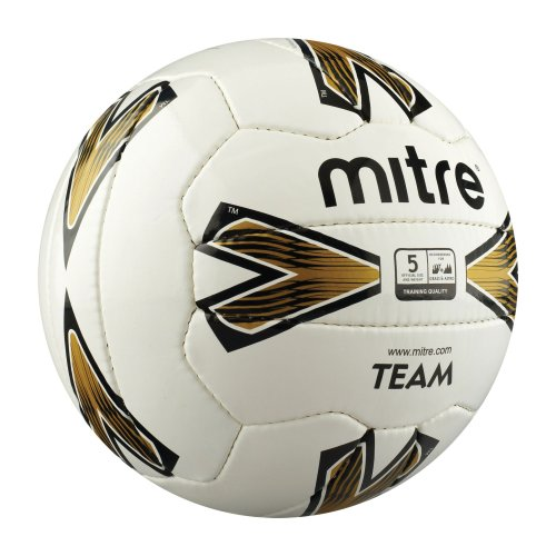 Mitre Team Training Football White/Gold Size 5