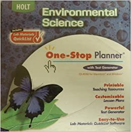 holt environmental science one stop planner with test. Black Bedroom Furniture Sets. Home Design Ideas