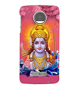 Lord Rama 3D Hard Polycarbonate Designer Back Case Cover for Motorola Moto Z :: Motorola Moto Z Droid