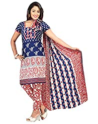 Yehii Women's Crepe Blue Floral dress material Unstitched Salwar Kameez Dupatta for women party wear low price Below Sale Offer