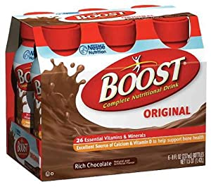 Boost Nutritional Energy Drink, Rich Chocolate, 8 Ounce Bottle (Pack of 24)