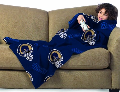 Nfl St. Louis Rams Youth Size Comfy Throw Blanket With Sleeves front-879199