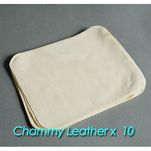 Chammy Chamois Leather Lens Cleaning Cloth/ Lens Cleaner X 10