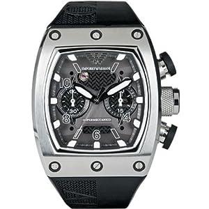 Emporio Armani AR4900 Mens SUPER MECCANICO Black Watch: Amazon.co.uk ...