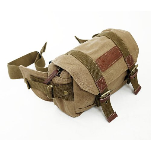 Koolertron Canvas Vintage Waist Packs DSLR SLR Camera Shoulder Case Bag DSLR SLR For Sony Canon Nikon Olympus