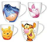 SET OF 4 DISNEY CHURCHILL BARREL MUGS/BEAKERS/CUPS Eeyore, Piglet, Winnie the Pooh, Tigger CHURCHILL CHINA. BEST BUDDIES (FREE COURIER POSTAGE)
