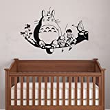 My neighbour Totoro wall decor decal baby kid's room sticker nursery wall art decor mural (black)