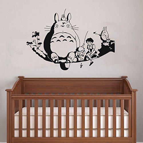 My Neighbour Totoro Wall Decor Decal Baby Kid'S Room Sticker Nursery Wall Art Decor Mural (Black) front-160871
