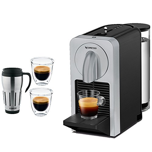 Coffee Maker Big W : Nespresso Prodigio Smart Coffee and Espresso Maker w/ Smartphone Connectivity (Silver) with 2x DeLon