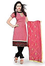 Livaaz Womens Cotton Unstitched Dress Material (Sf100527 _Red)