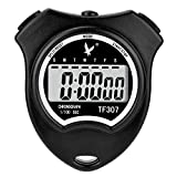 Digital Sport Stopwatch Timer Chronograph Athletic Watch with Clock Alarm, Calendar and Large LCD Display, Black
