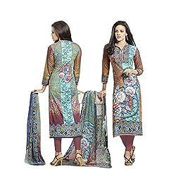 Bluewoman Digital print cotton dress material
