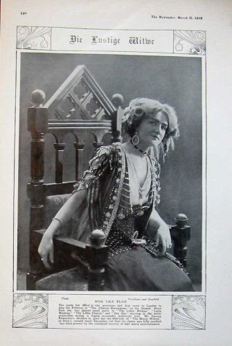 1908 Miss Lily Elsie Strand Theatre Chinese Honeymoon