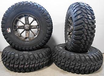 MSA Bronze Elixir 14″ ATV Wheels 30″ Kanati Mongrel Tires Sportsman RZR Ranger