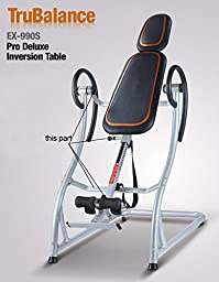 TruBalance EX-990S Pro Fitness Deluxe Inversion Table - Titanium