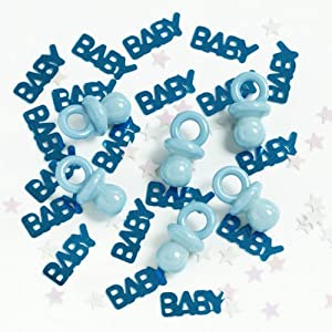Mixed blue baby confetti with pacifiers 14g