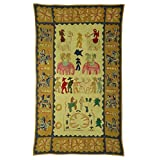 Rajrang Home Décor Embroidered Patch Work Green Wall Hanging - B00TQRJGRQ