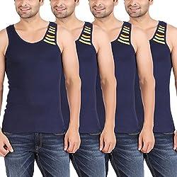 Zippy Men's Swift Sleeveless Navy Vest (Pack of 4)