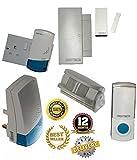 NEW WIRELESS SECURITY SHOP VISiTOR / NURSE CALL NURSING HOME CARE HOME DOORBELL ALARM ALERT SYSTEM MOTION PIR SENSOR & MAGNETIC DOOR CONTACT PLUS PUSH / PLUGIN CHIME