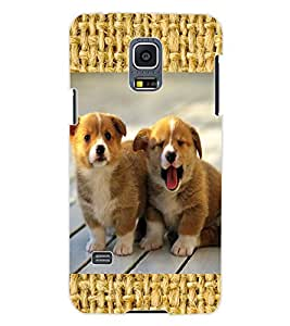 ColourCraft Cute Puppies Design Back Case Cover for SAMSUNG GALAXY S5 MINI