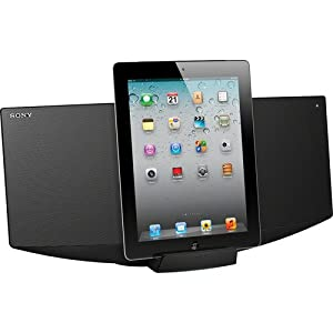 Sony Black Micro Hi-fi Music System, Made For Ipad, Ipod And Iphone, Single Disc Slot Loading Cd Player, 40 Watts Total Full-range Speaker System, Audio-in For Use With Mp3 Players, PC And Other Audio Sources, AM/FM Radio With 30-station Presets, Charge Your Apple Device While Docked, Black Finish