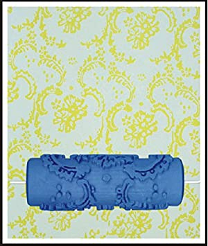 Bueer 5 Patterned Paint Roller Decorative Texture Roller With Single Color Painting Machine (Chrysanthemums) (Color: Chrysanthemums, Tamaño: 5 inches)